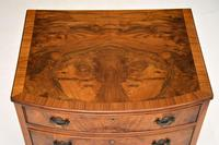 Antique Burr Walnut Bow Front Chest of Drawers (5 of 9)