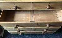 Stripped Pine Chest of Five Drawers (5 of 9)