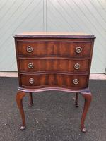 Antique Mahogany 3 Draw Bedside Chest