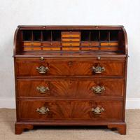 Cylinder Bureau Georgian Writing Desk Chest (12 of 12)