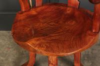 Rare Victorian Elm Swivel Desk Chair (7 of 10)