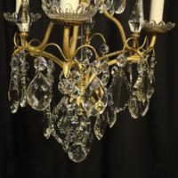 French Gilded Birdcage Antique Chandelier (5 of 8)