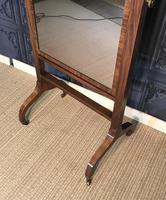 Regency Mahogany Framed Cheval Mirror (4 of 11)