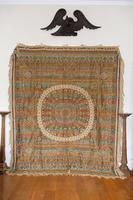 Large Vintage Middle Eastern Embroidered Silk Wall Hanging (10 of 10)