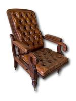 Victorian Mahogany Reclining Library Chair (5 of 7)