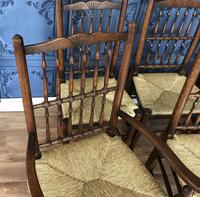 Set of Six Oak Spindle Back Dining Chairs (12 of 12)