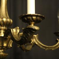 French Bronze 6 Light Antique Chandelier (8 of 10)