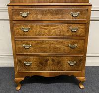 Burr Walnut Cupboard Over Chest (11 of 15)