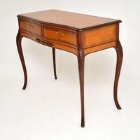 Antique French Style Inlaid Rosewood Console Table (3 of 11)