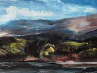 20th Century Oil Painting Wales Menai Bridge Church Straits Snowdonia Mountains (15 of 27)