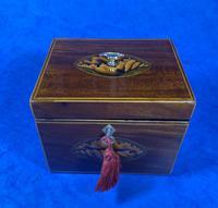 18th Century Mahogany  Shell Inlaid Tea Caddy (18 of 18)