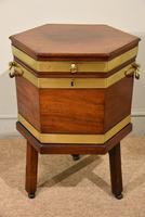 George III Octagonal Wine Cooler on Stand
