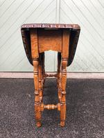 Antique Carved Oak Drop Leaf Table (7 of 7)