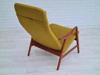 Alf Svensson, 60s, Armchair Model Kontur, Completely Restored, Furniture Wool (7 of 16)