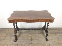 Victorian Rosewood Stretcher Table / Centre Table (14 of 15)