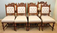 Antique Victorian Set of Eight Oak Dining Chairs (2 of 16)