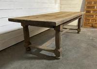 Rare Large & Deep Oak Farmhouse Dining Table (12 of 31)
