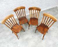 Set of 4 Lath Back Kitchen Chairs (3 of 5)