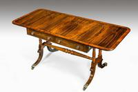 Regency Period Rosewood Sofa Table with Turned Stretcher (3 of 6)