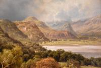 "Oil Painting by Edward Henry Holder ""Scene in the Lake District"" (4 of 5)"