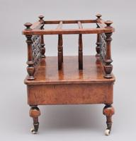 19th Century Burr Walnut Canterbury of Nice Proportions (4 of 10)
