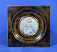 Pair of 1920s Painted Miniatures of Emperor Napoleon & Josephine (3 of 30)