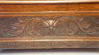 Late Victorian Carved Oak Monks Bench (3 of 16)