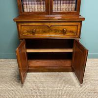 Superb Quality Victorian Mahogany Antique Glazed Secretaire Bookcase On Cupboard (8 of 8)