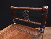 Antique Chinese Stool Hand Carved Piano Circa 1880 (5 of 10)