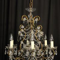 French Pair of Six Light Antique Chandeliers (8 of 10)