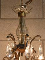 6 Arm brass bird cage with small droppers (4 of 4)