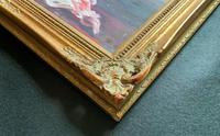 Large Original Gilt Framed 20th Century Impressionist Still Life Floral Oil Painting (11 of 12)