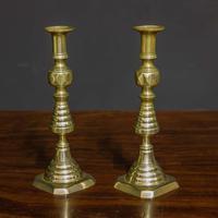 Victorian Brass Candlesticks (2 of 10)