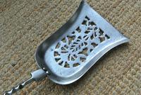 Fine Victorian Steel & Red Brass Fire Irons Poker Tongs Shovel c.1860 (6 of 12)