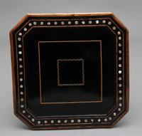 19th Century ebony and inlaid occasional table (7 of 9)