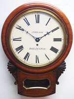 Rare Antique Drop Dial Wall Clock 8 Day Single Fusee Movement (5 of 13)