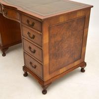 Burr Walnut Pedestal Desk c.1930 (10 of 10)