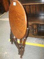 Circular Folding Oak Occasional Table (4 of 4)
