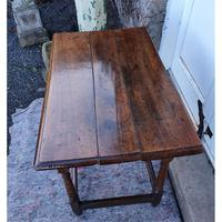 Queen Anne Walnut & Oak Side Table (5 of 6)