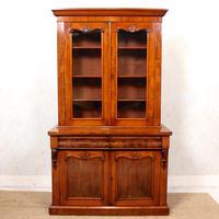 Library Glazed Bookcase Mahogany 19th Century Victorian Display Cabinet (2 of 11)