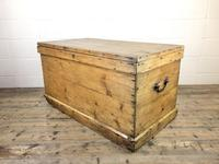Large Victorian Antique Pine Trunk (4 of 14)