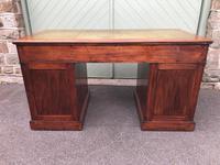 Antique Walnut Pedestal Writing Desk (6 of 13)