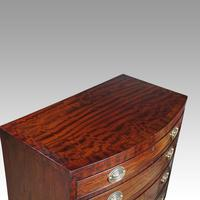 Edwardian Bow Fronted Small Chest (6 of 9)