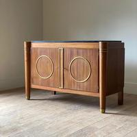 Elegant French Mid Century Modernist Fossil Marble Topped Commode (2 of 10)