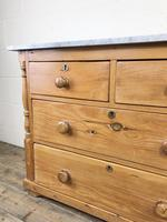 Antique Pine & Marble Chest of Drawers (12 of 15)