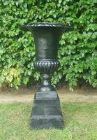 19th Century Victorian Cast Iron Urn on Stand (2 of 4)