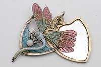 Meyle & Mayer Jugendstil Silver Dragonfly Pendant Locket, Very Rare (2 of 6)