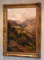 Oil Painting 'The Lledr Valley' by Frank T. Carter (2 of 9)