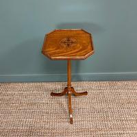 Unusual Victorian Satinwood Jardinière / Side Table (5 of 8)