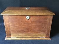 Antique Oak Stationary / Writing Cabinet (2 of 6)
